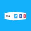 3D Flip social buttons. Эффект переворота