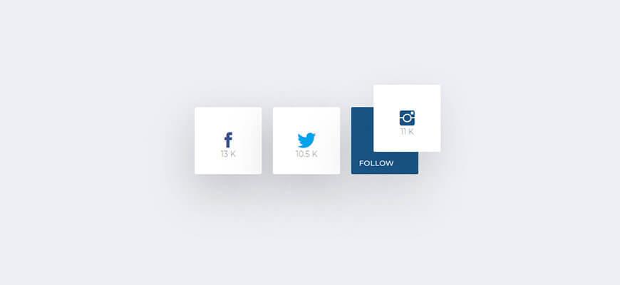 Easy social sharing - соцкнопки с тремя hover эффектами